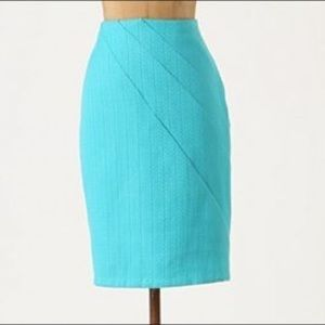 Anthropologie blue pencil skirt